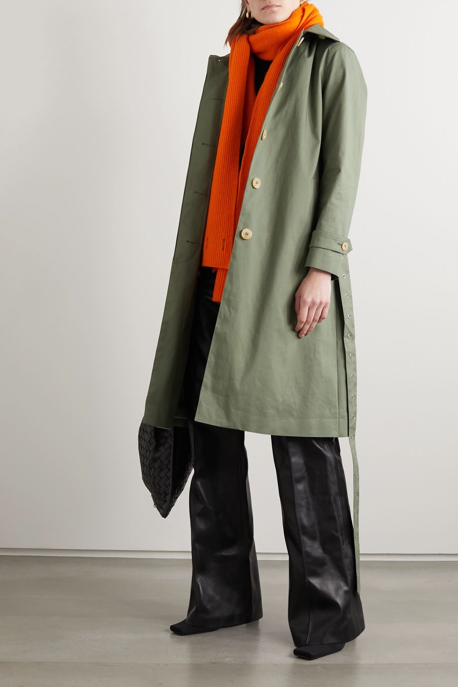 Mackintosh Roslin bonded cotton trench coat