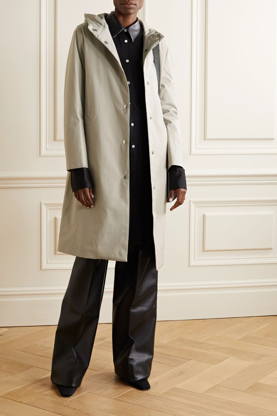 Mackintosh Chryston hooded wool down coat