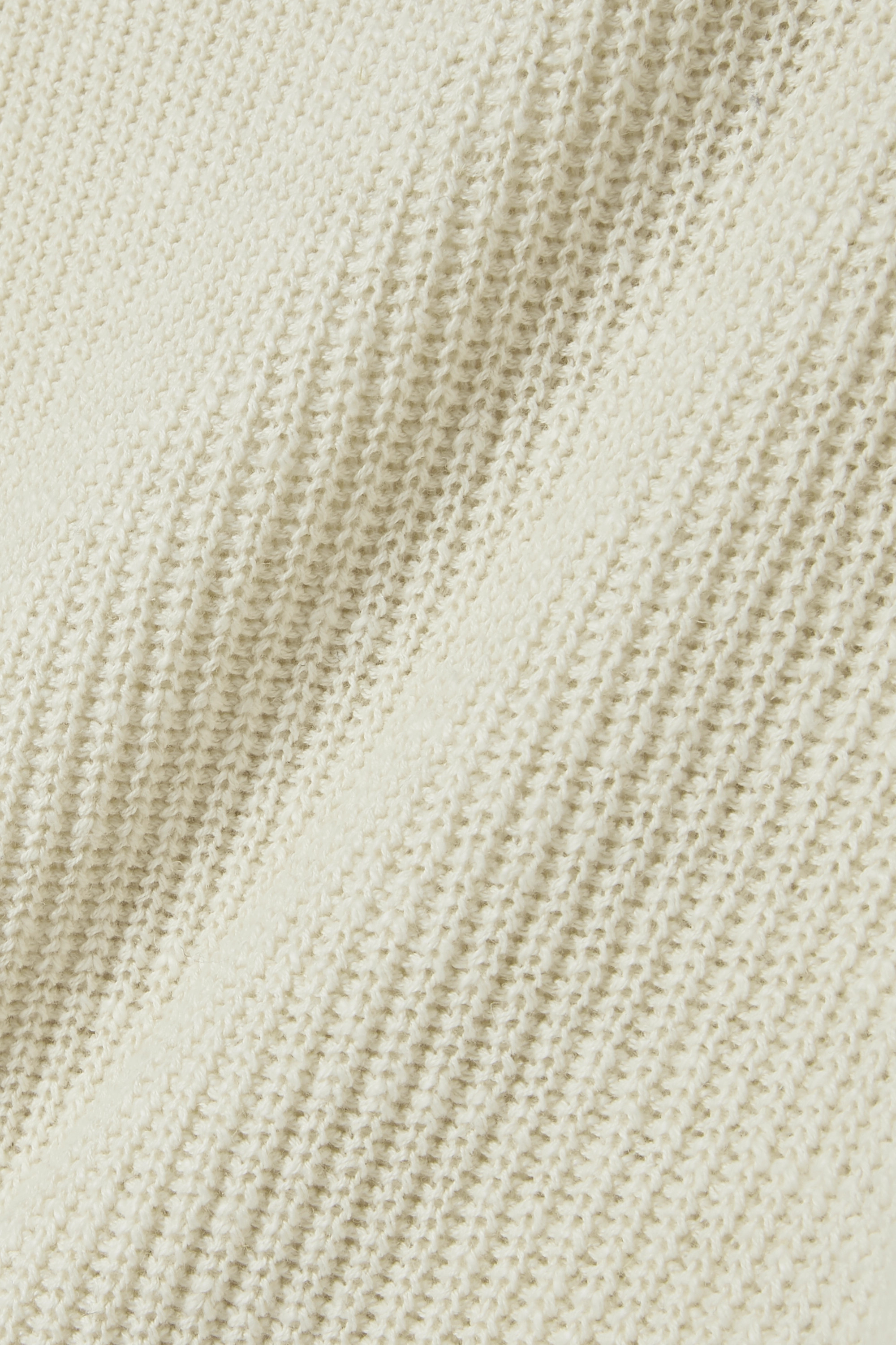 James Perse Asymmetric ribbed cotton and linen-blend sweater