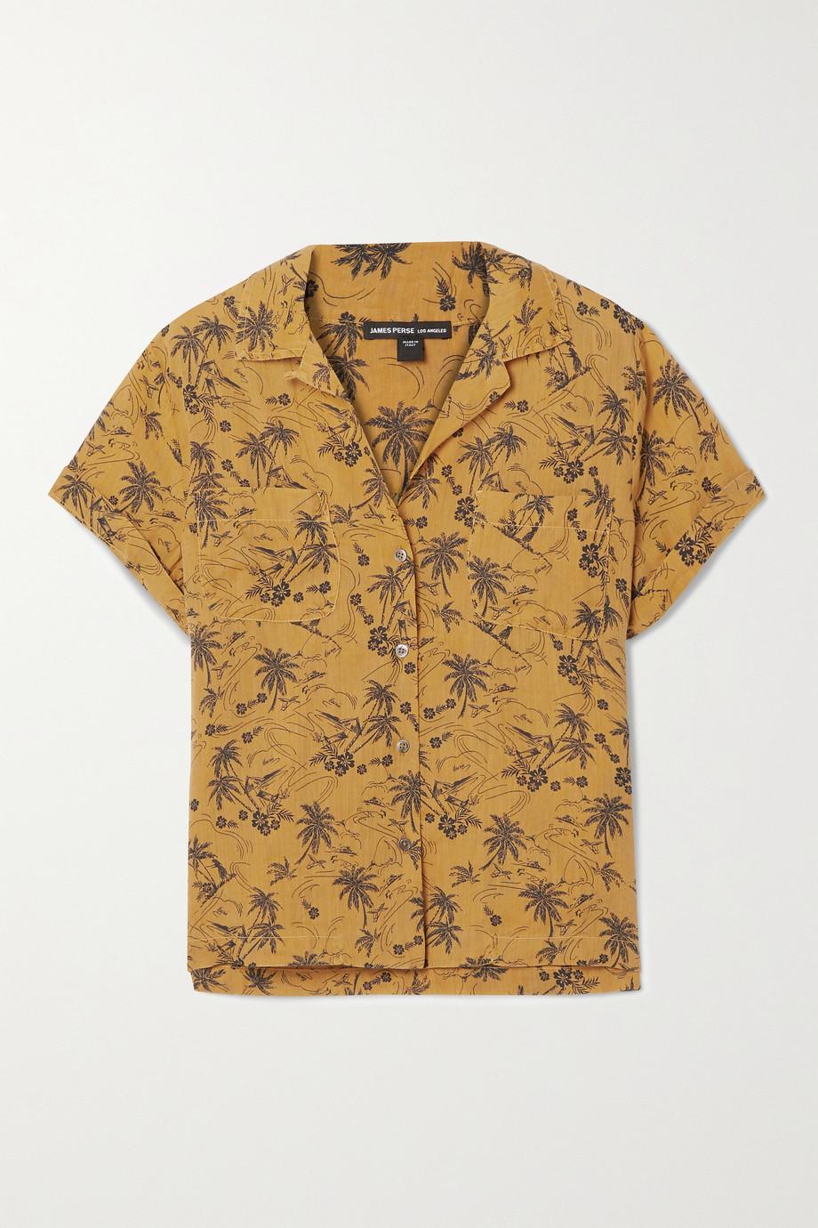 James Perse Aloha printed voile shirt
