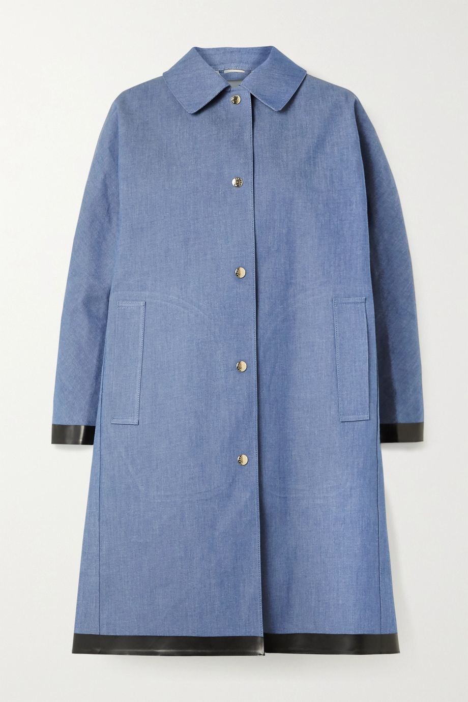 Mackintosh Bonded cotton-denim coat