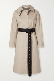 Roslin belted bonded cotton trench coat