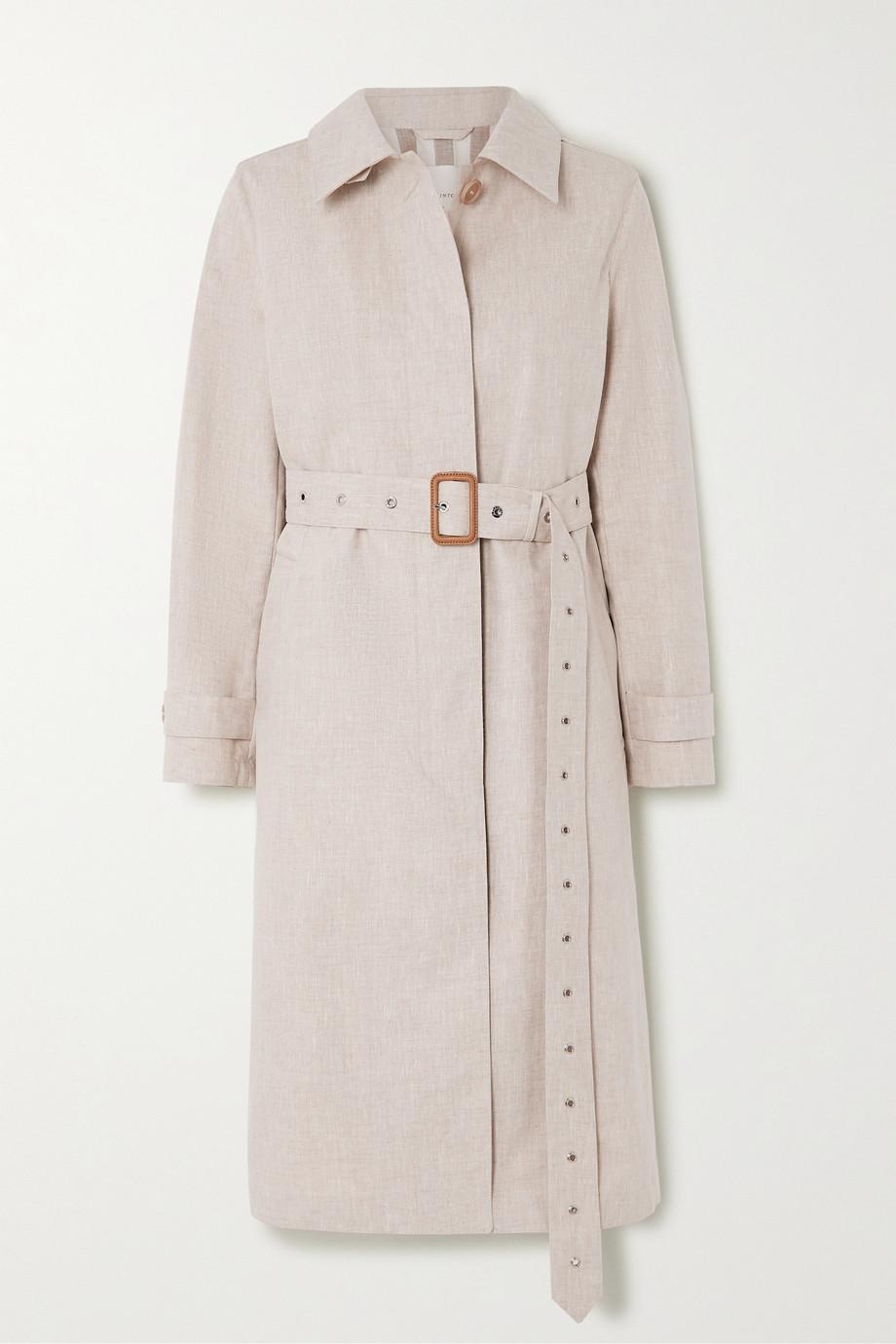 Mackintosh Trench-coat en lin et en coton collés à ceinture Roslin