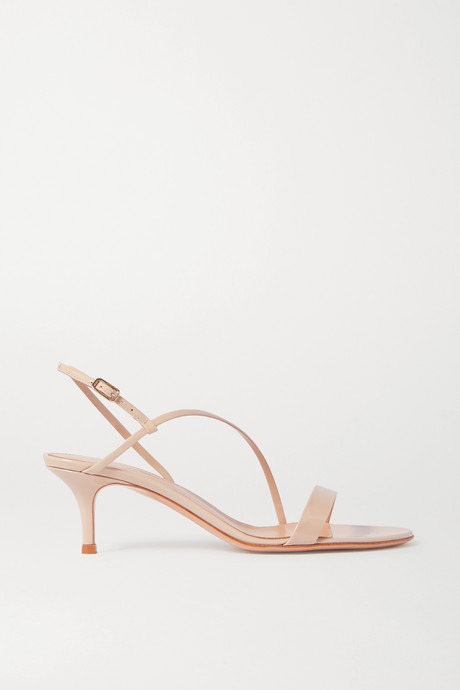 Beige Manhattan 55 patent-leather sandals   Gianvito Rossi ZlO1ea