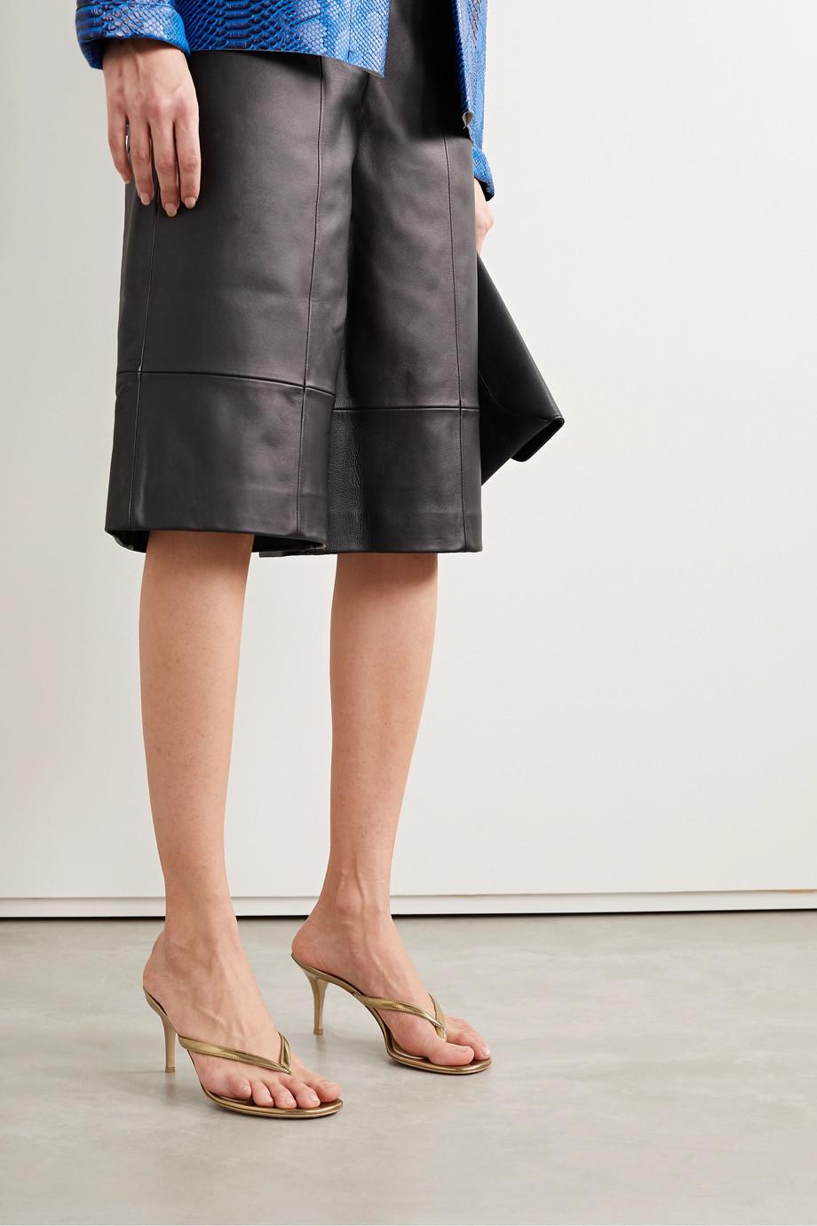 Gianvito Rossi Calypso 70 metallic leather sandals