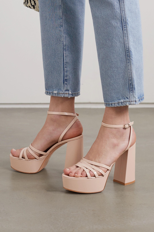 Gianvito Rossi Angelica 70 patent-leather platform sandals