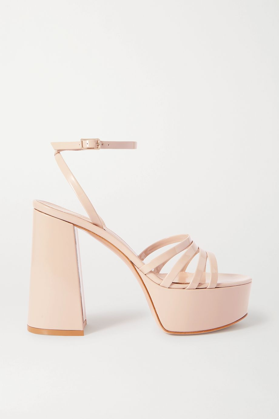 Gianvito Rossi Angelica 70 patent-leather platform sandals