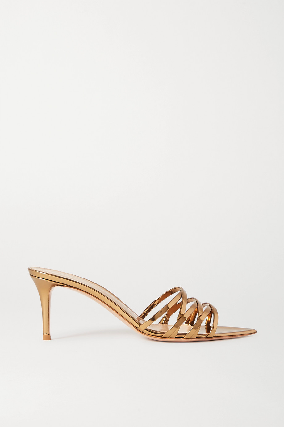 Gianvito Rossi Lita 70 metallic leather sandals