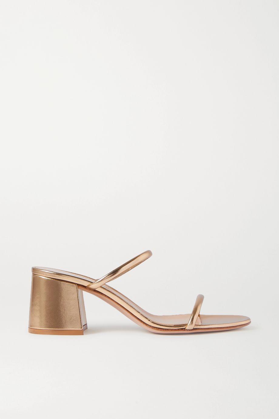 Gianvito Rossi 60 metallic leather sandals