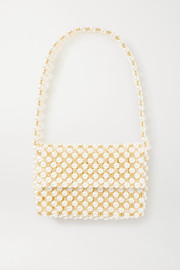 + NET SUSTAIN The Pearl Mist faux pearl and gold-plated shoulder bag