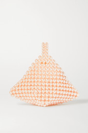Vanina + NET SUSTAIN Le Bourgeon Rose faux pearl tote