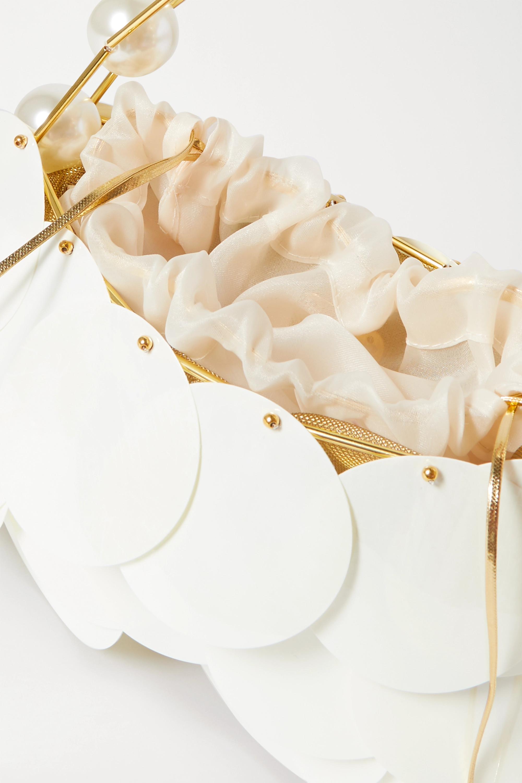 Vanina Boutons D'Or embellished gold-tone and tulle shoulder bag