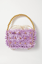 Vanina Inflorescence embellished satin and acrylic tote