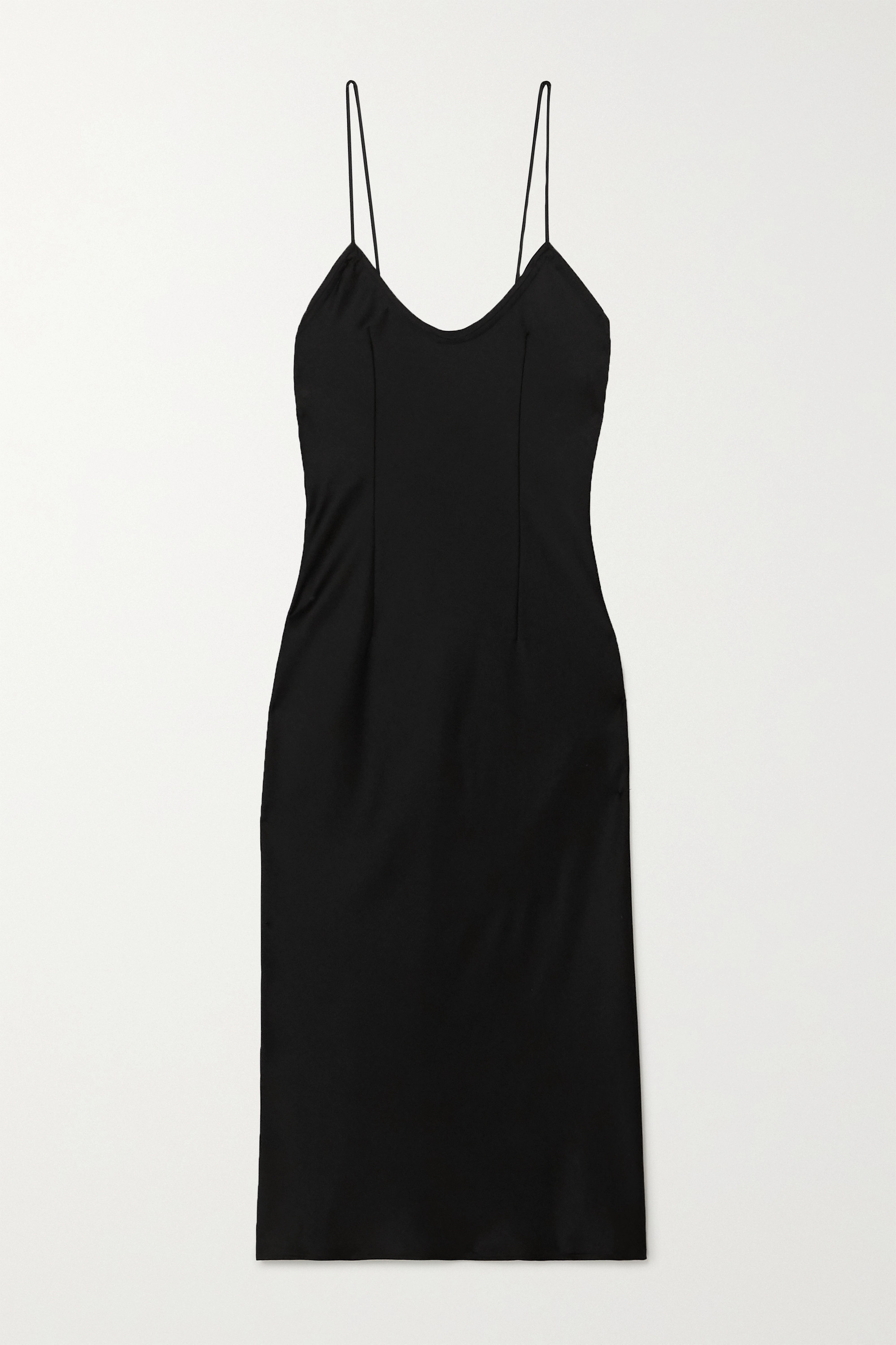 SAINT LAURENT Midikleid aus Satin