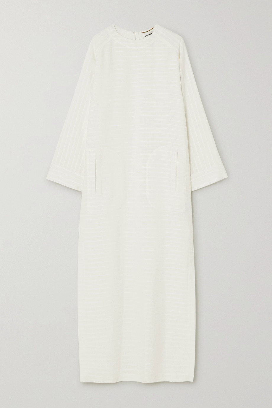 SAINT LAURENT Striped jacquard midi dress