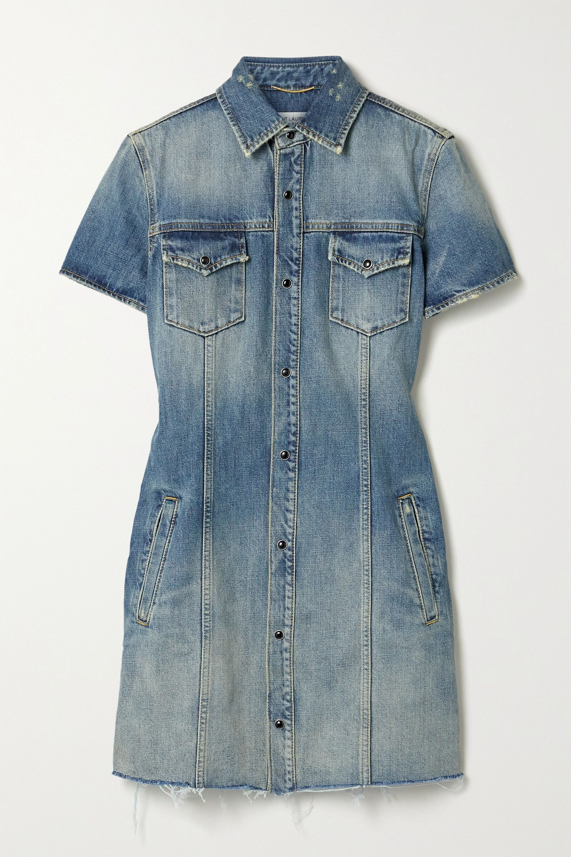 SAINT LAURENT Denim mini dress