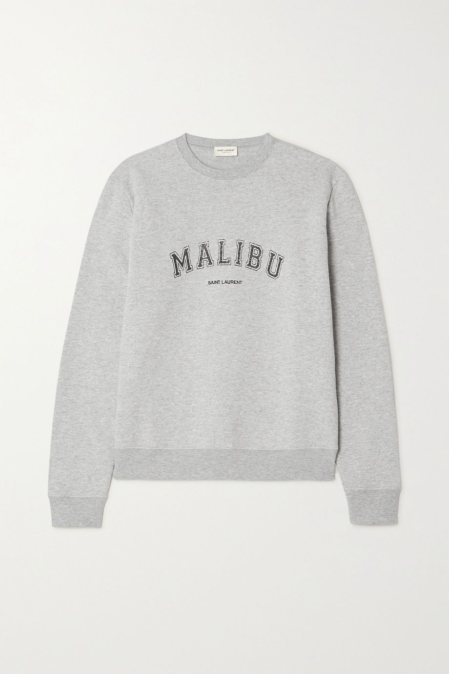 SAINT LAURENT Malibu printed cotton-blend jersey sweater