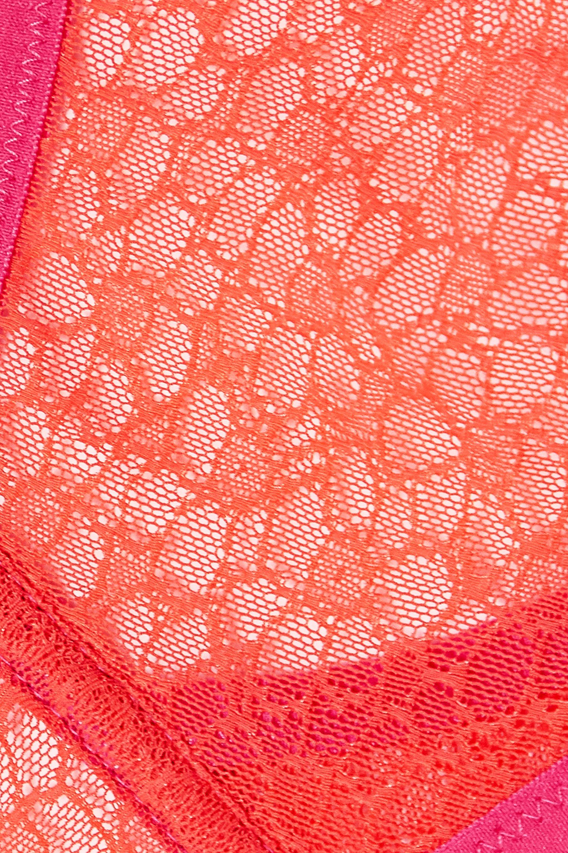 Yasmine Eslami Lily two-tone stretch-lace triangle bra