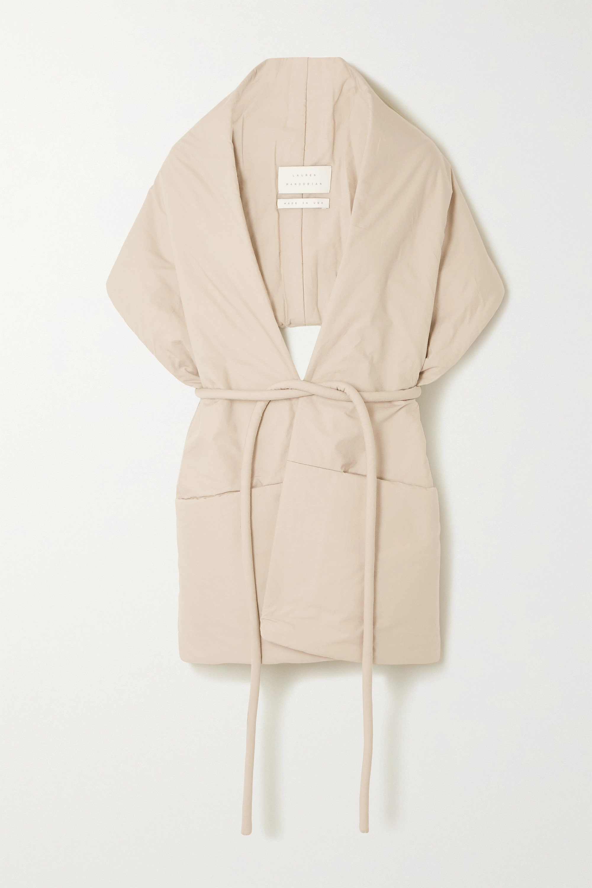 Lauren Manoogian Belted padded cotton wrap