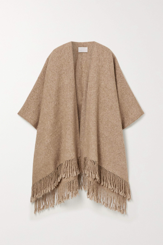 Lauren Manoogian Fringed alpaca and Pima cotton-blend wrap