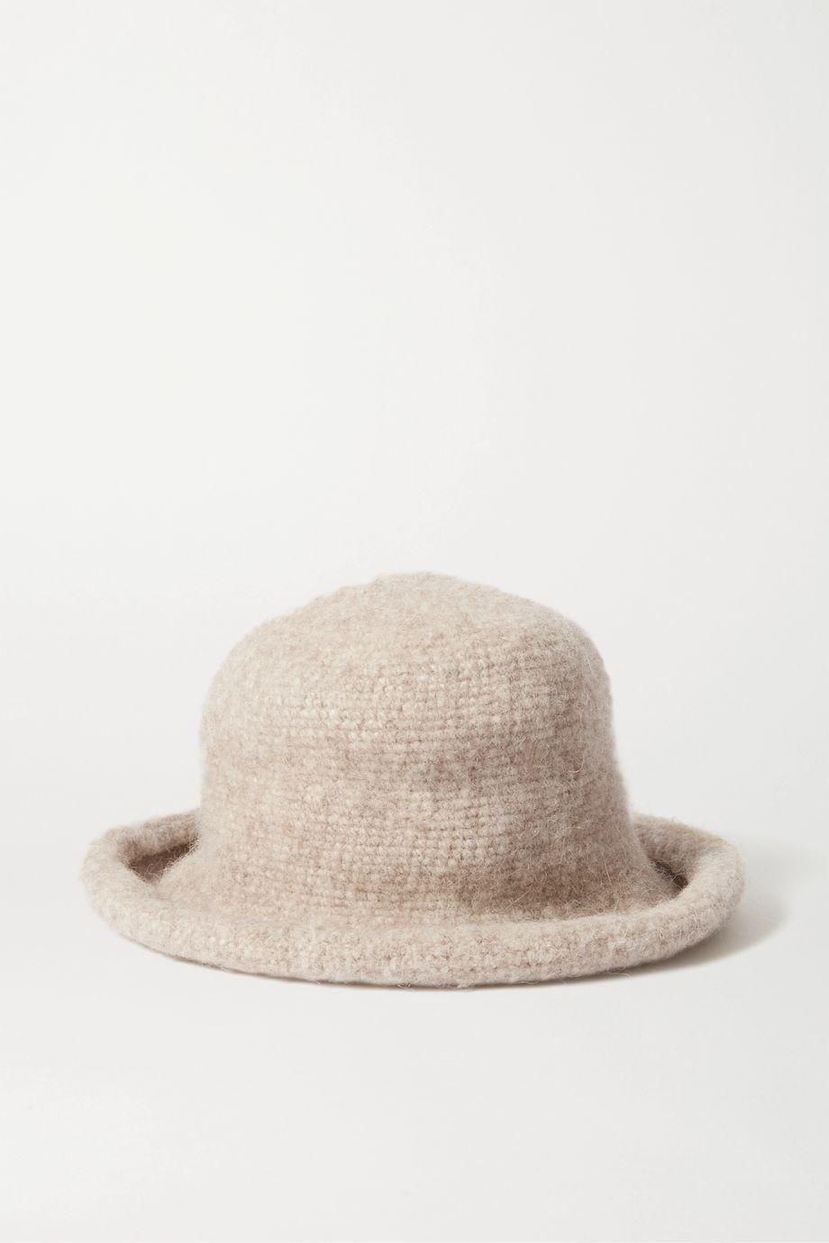 Lauren Manoogian Pima cotton, alpaca and wool-blend felt hat