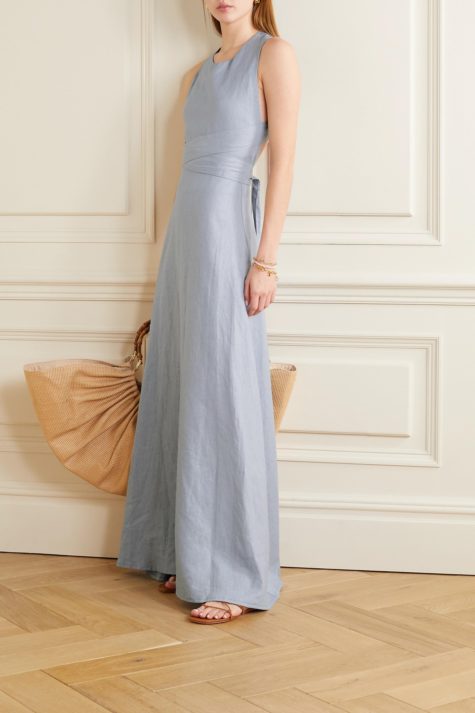 Albus Lumen Lima open-back linen maxi dress