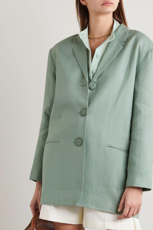 Albus Lumen Manus oversized linen blazer
