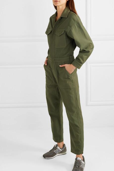 Marta cotton-canvas jumpsuit