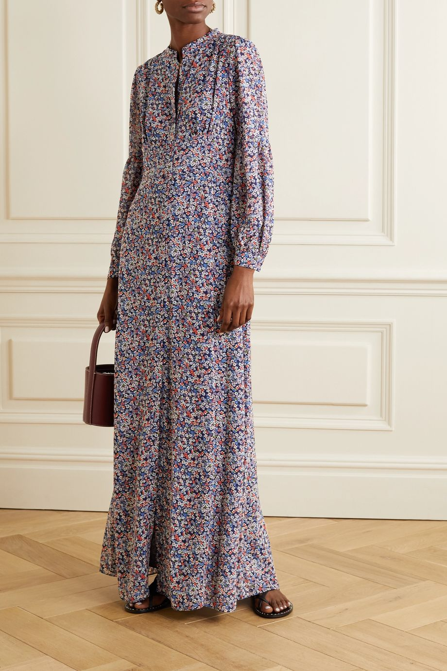 MICHAEL Michael Kors Floral-print georgette maxi dress