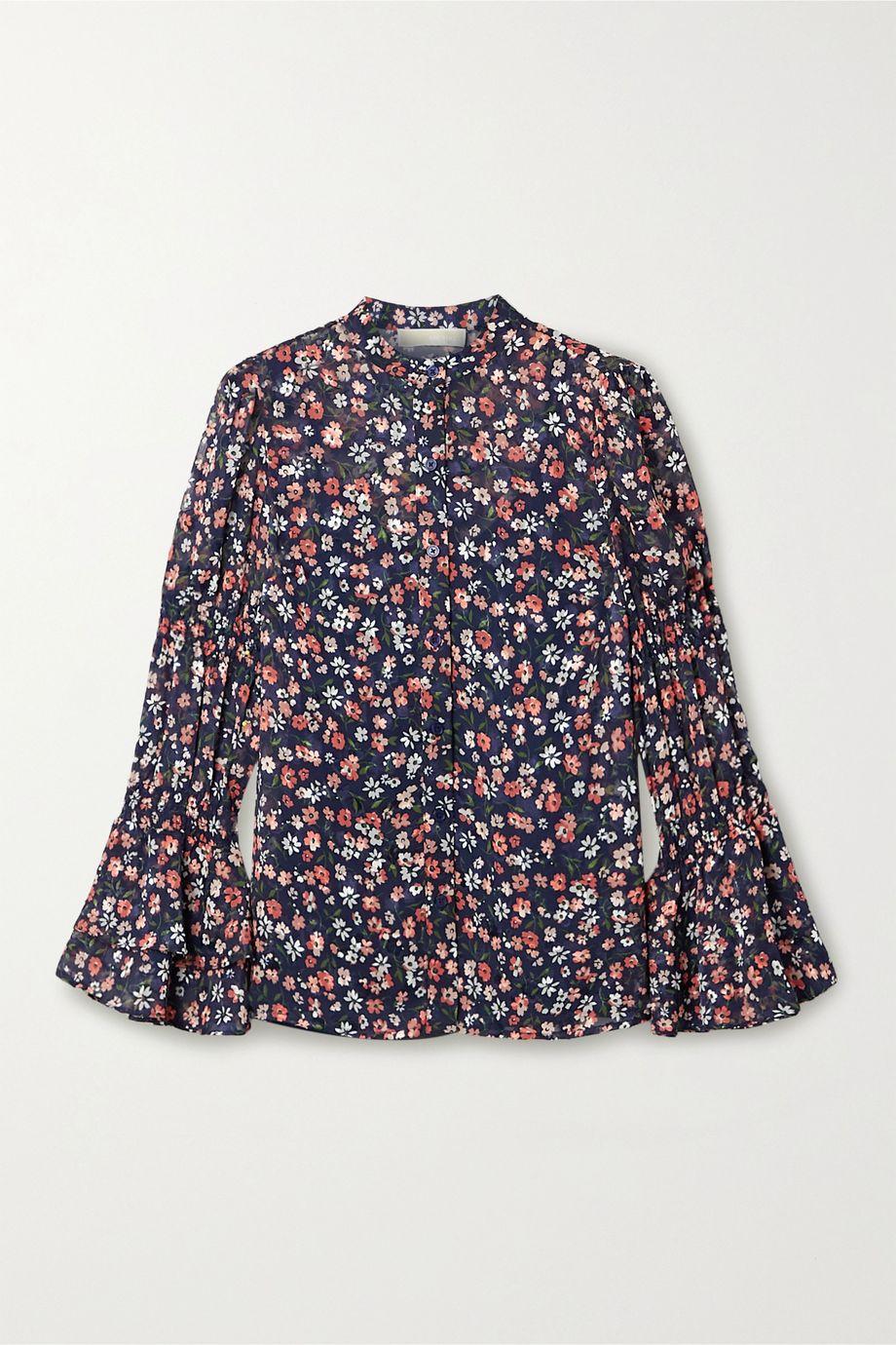 MICHAEL Michael Kors Garden Patch Bluse aus Crêpe mit Blumenprint