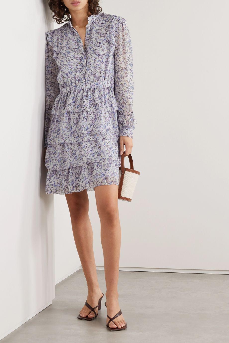 MICHAEL Michael Kors Tiered printed chiffon mini dress