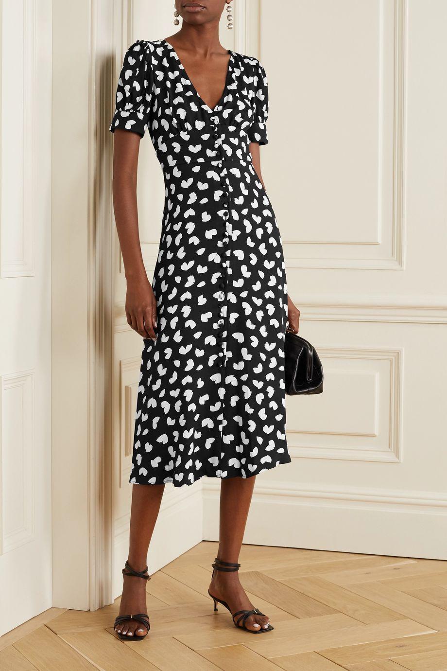 MICHAEL Michael Kors Printed crepe midi dress