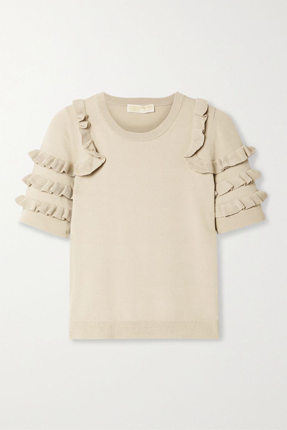 MICHAEL Michael Kors Ruffled stretch-knit top