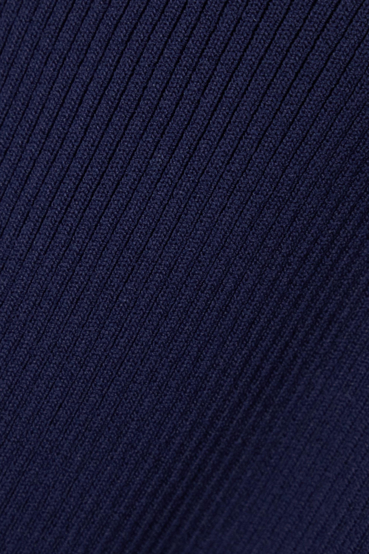 MICHAEL Michael Kors Ruffled ribbed stretch-knit top