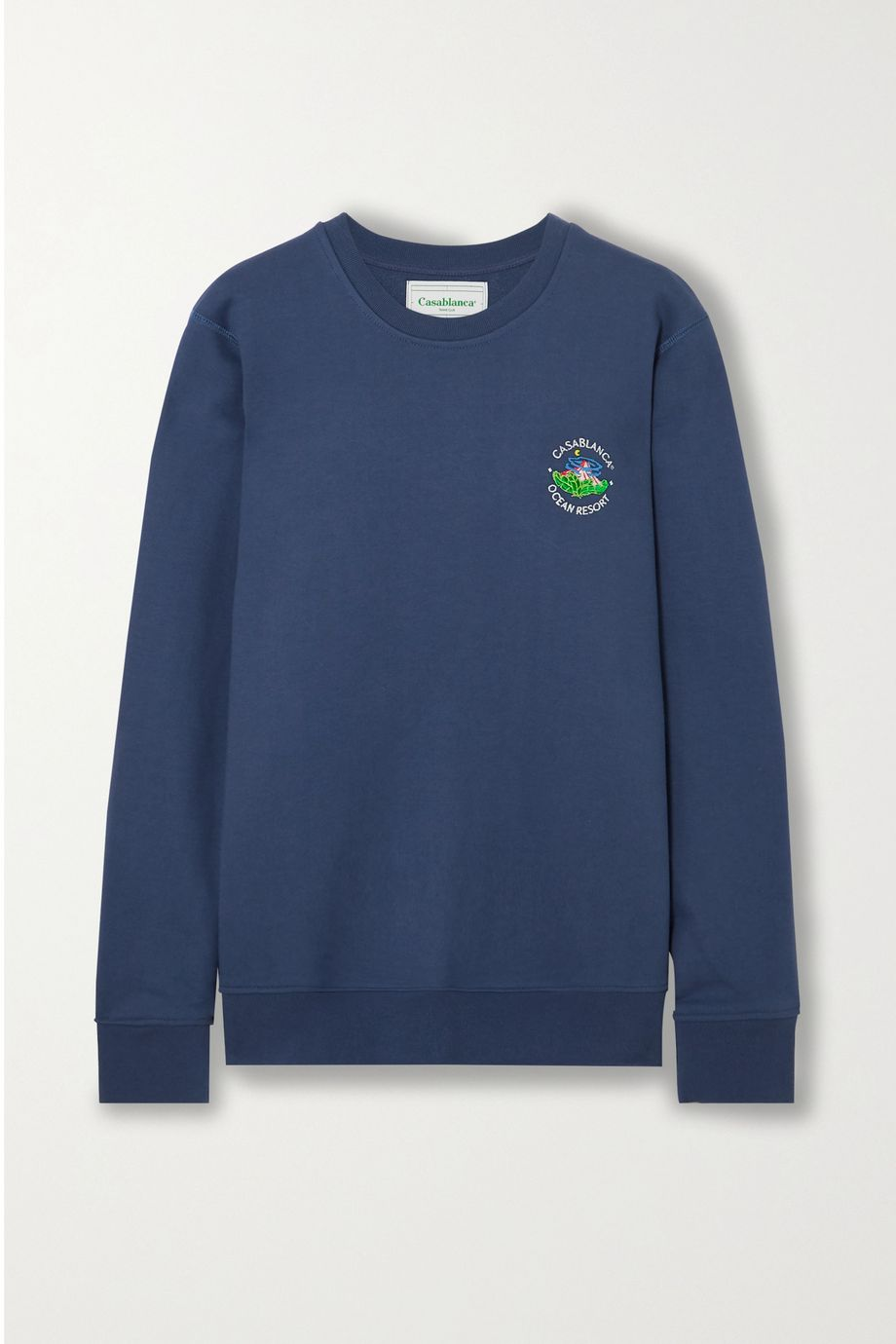 Casablanca Embroidered cotton-jersey sweatshirt