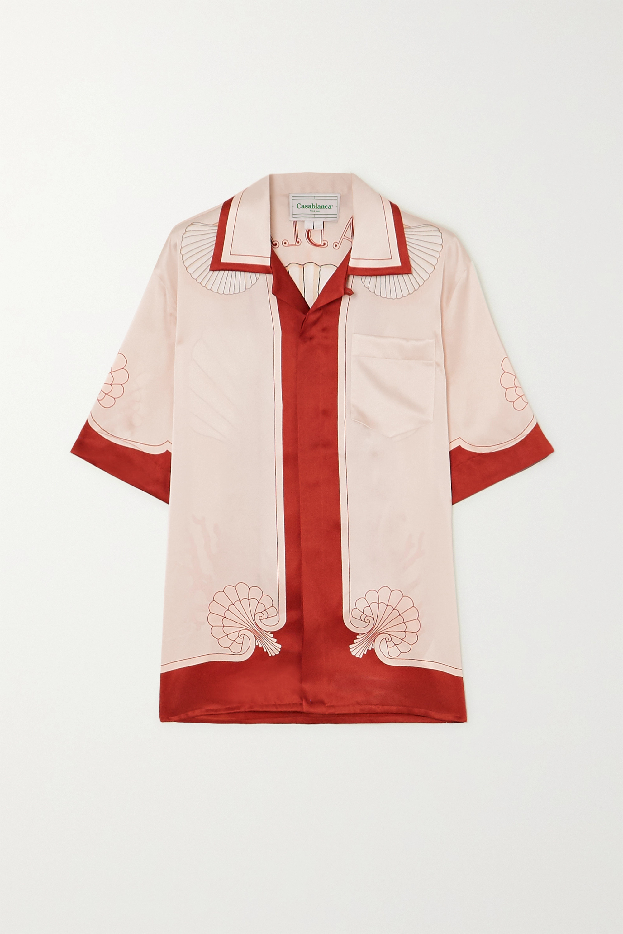 Casablanca Printed silk-satin shirt