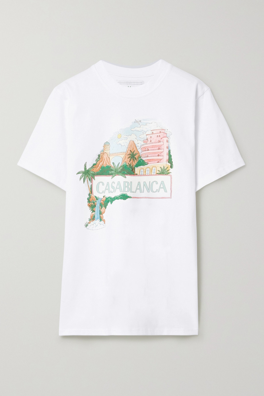 Casablanca Casa Views printed cotton-jersey T-shirt