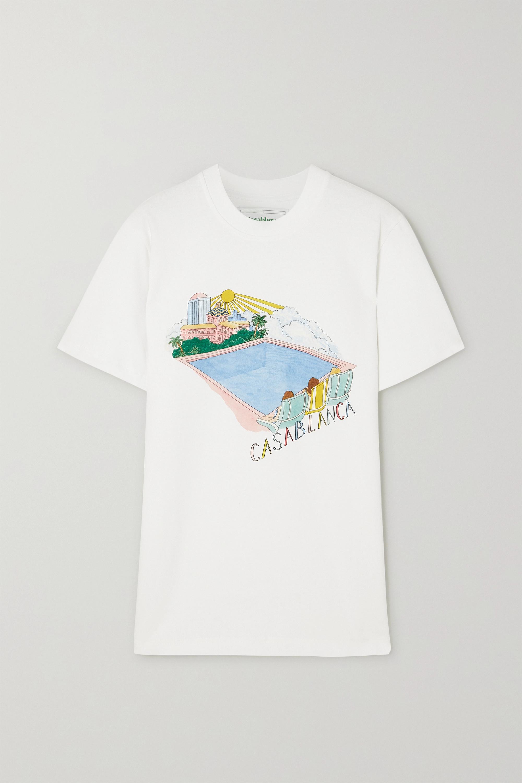 Casablanca 印花纯棉平纹布 T 恤