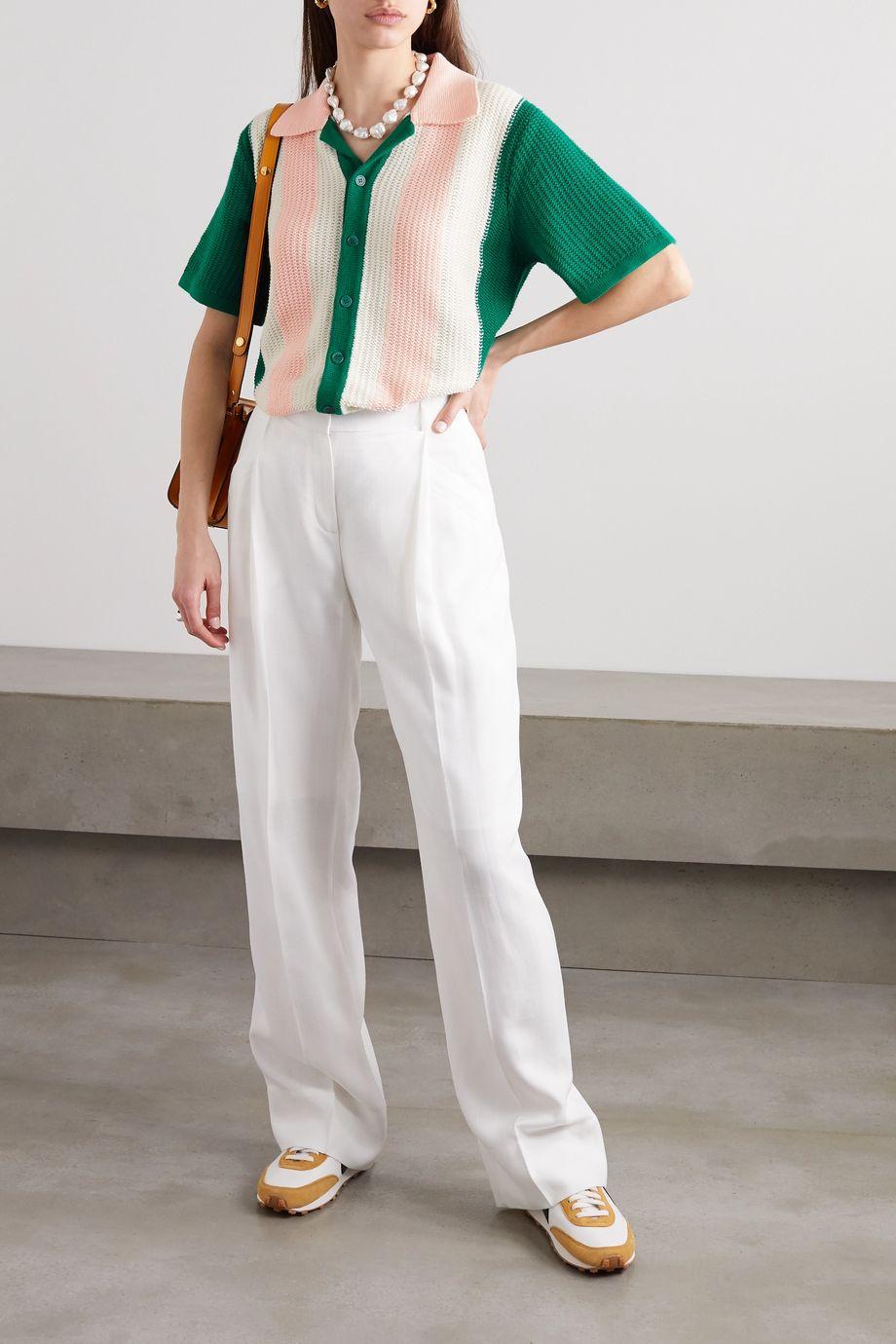 Casablanca Yass color-block cotton top