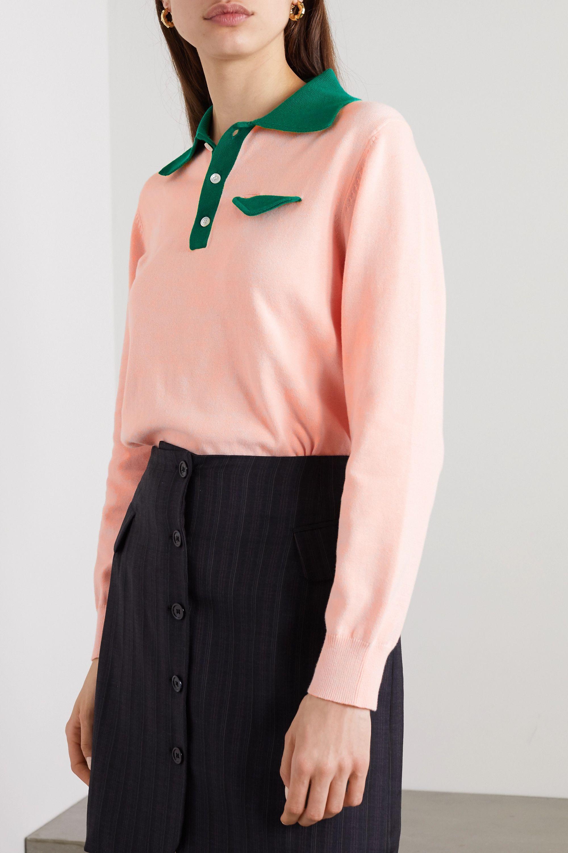 Casablanca Casa two-tone cotton sweater