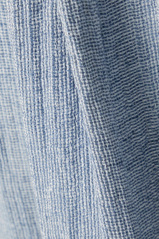 Lisa Marie Fernandez + NET SUSTAIN Nicole ruffled linen-blend gauze maxi skirt