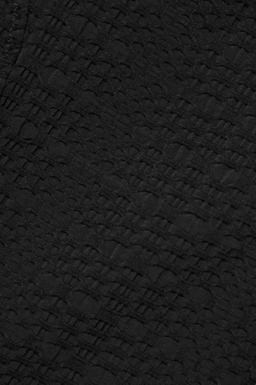 Lisa Marie Fernandez + NET SUSTAIN Yasmin belted wrap-effect seersucker swimsuit