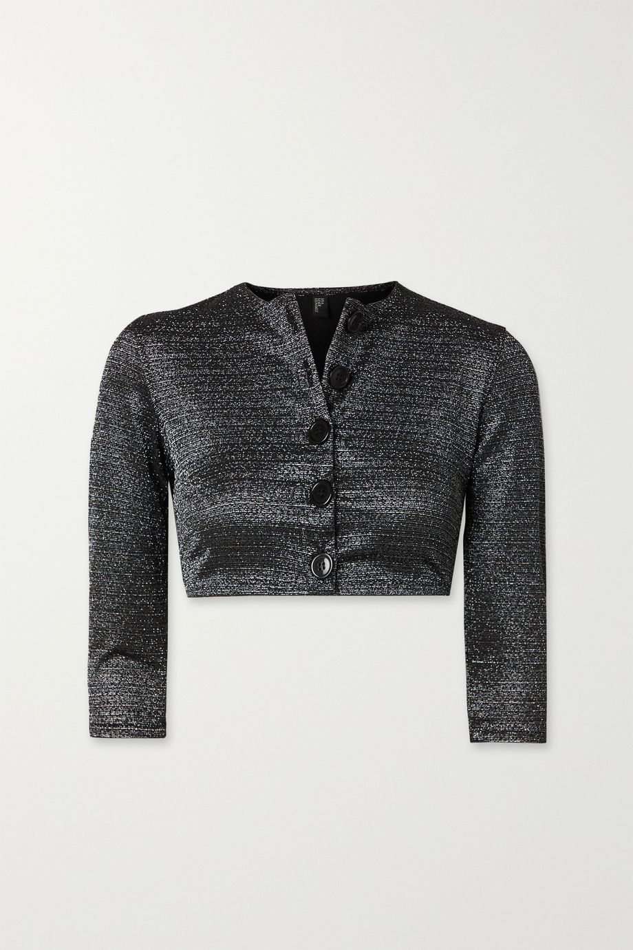 Lisa Marie Fernandez + NET SUSTAIN cropped metallic stretch cardigan