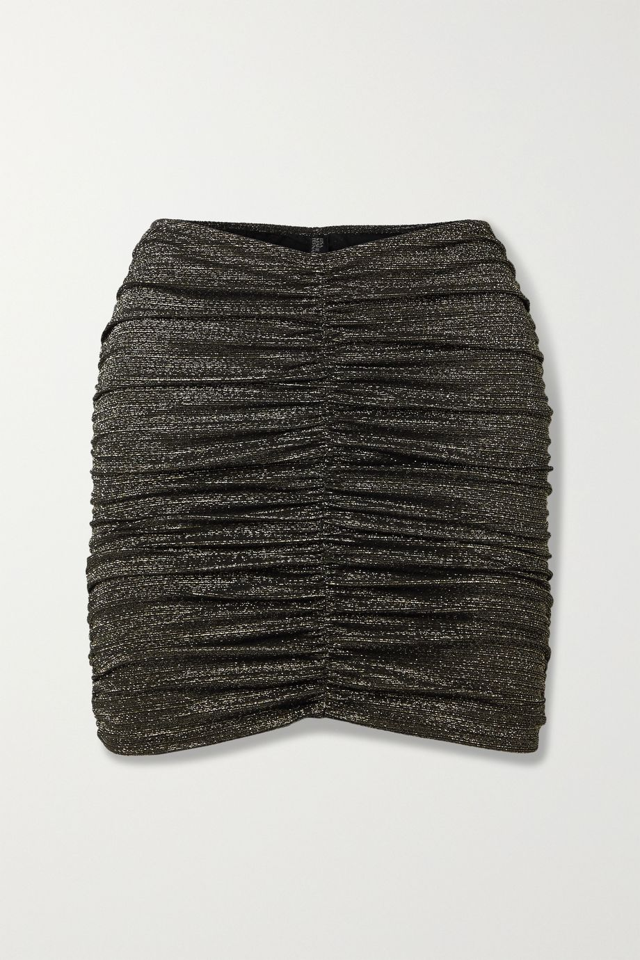 Lisa Marie Fernandez + NET SUSTAIN ruched metallic swim skirt