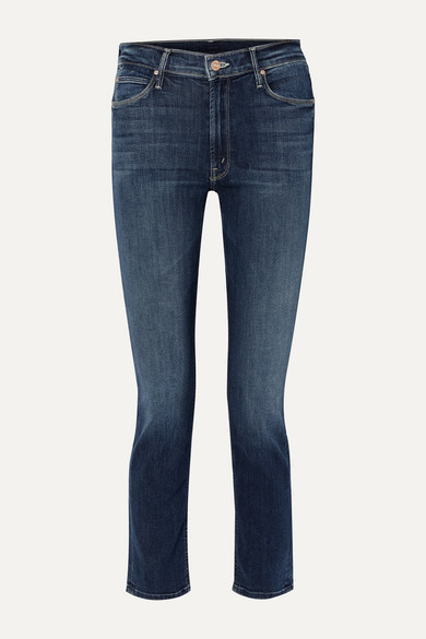 Mother Jeans The Dazzler high-rise straight-leg jeans