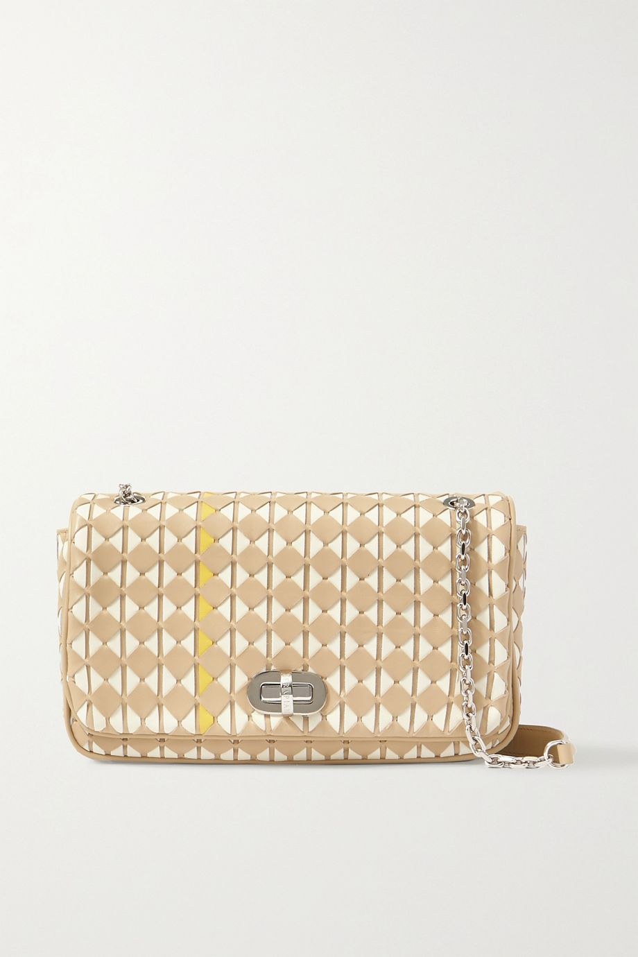 Serapian Woven leather shoulder bag