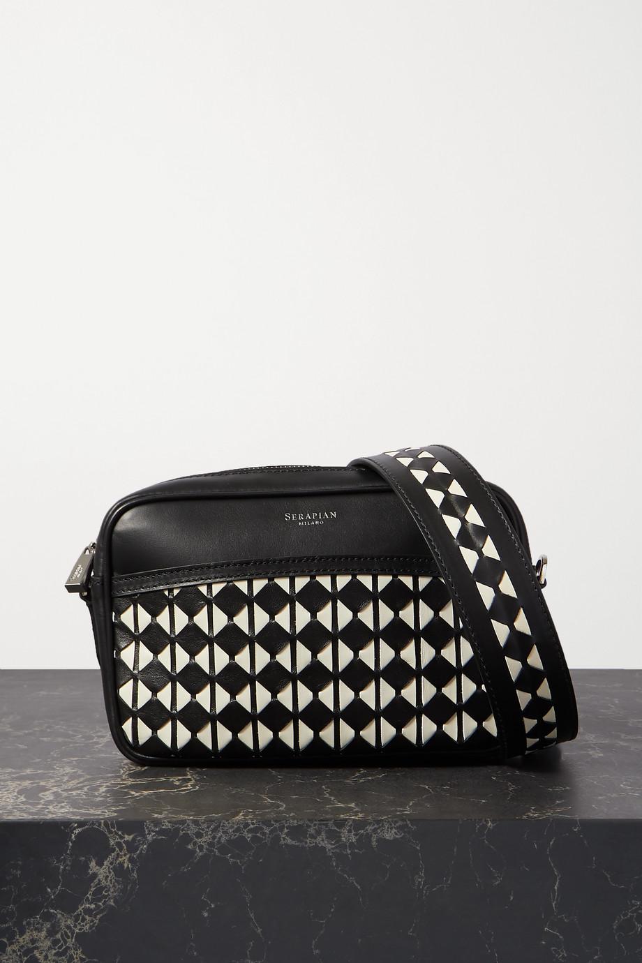 Serapian Two-tone woven leather shoulder bag