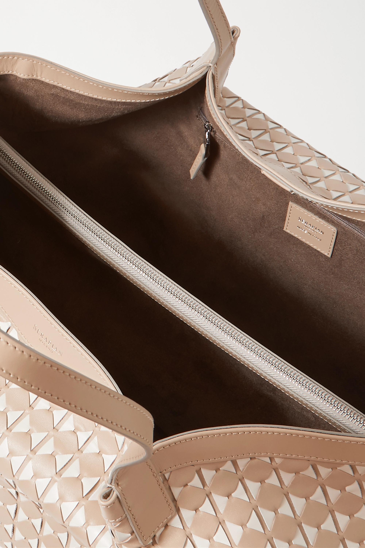 Serapian Secret medium woven leather tote