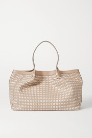 Serapian Secret medium woven leather tote