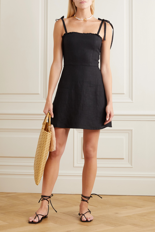 Honorine Poppy ruffled linen mini dress